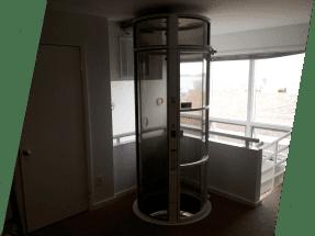 ea elevator inside building