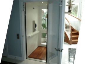 open elevator door