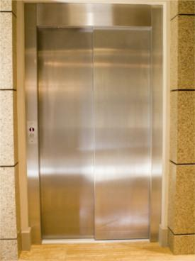 closed elevator door
