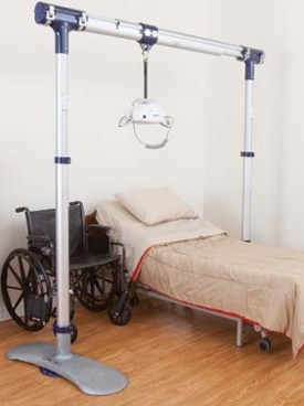 lift surrounding bed and wheelchair